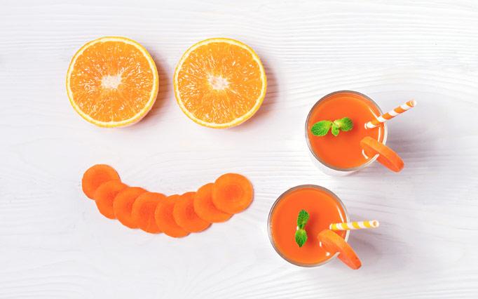 Sok pomaranče in korenčka